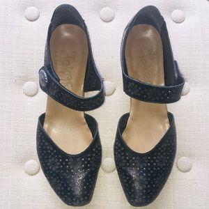 Rieker black Mary Jane shoes size 40